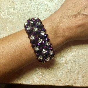 Jewelry - 💜Gorgeous Crystal/Purple color Layered Bracelet